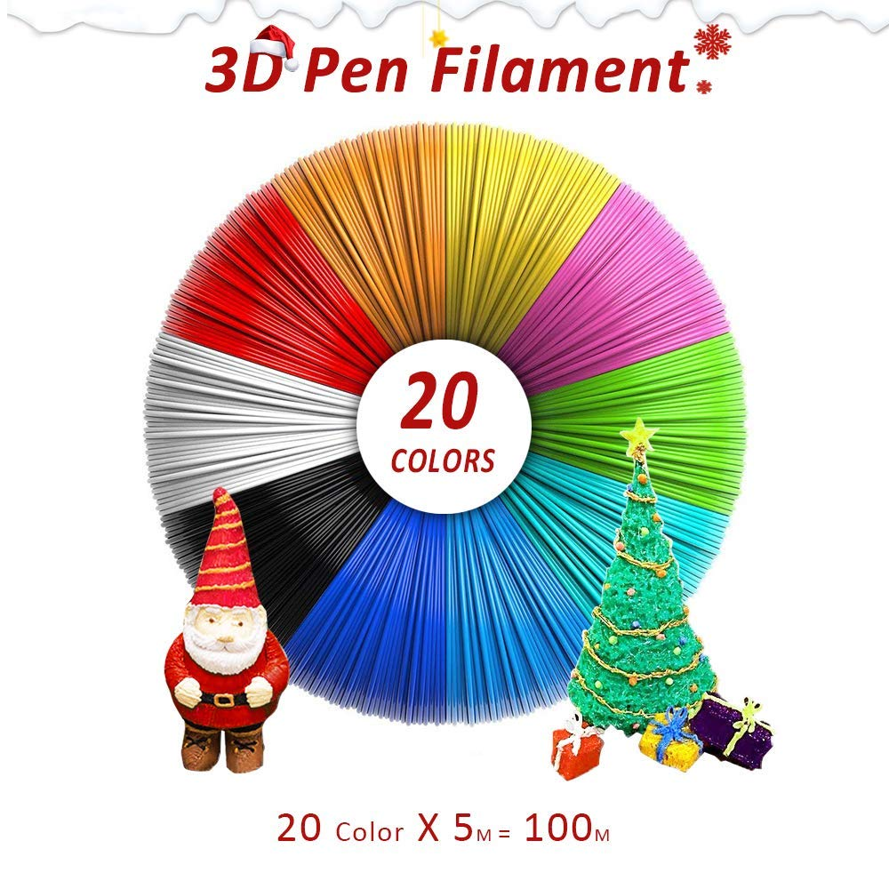 ABS 3D Printer Filament Samples, 3D Pen ABS Filament, Totally 20 Colors, 200 Meters, Ship From China - SunLu 3D