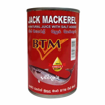 BTM JACK MACKEREL IN BRINE TIN 425G