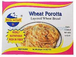 DAILY DELIGHT FROZEN CHAKKI WHOLE WHEAT PAROTTA 454G