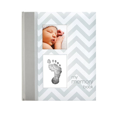 Chevron Baby Journal Grey