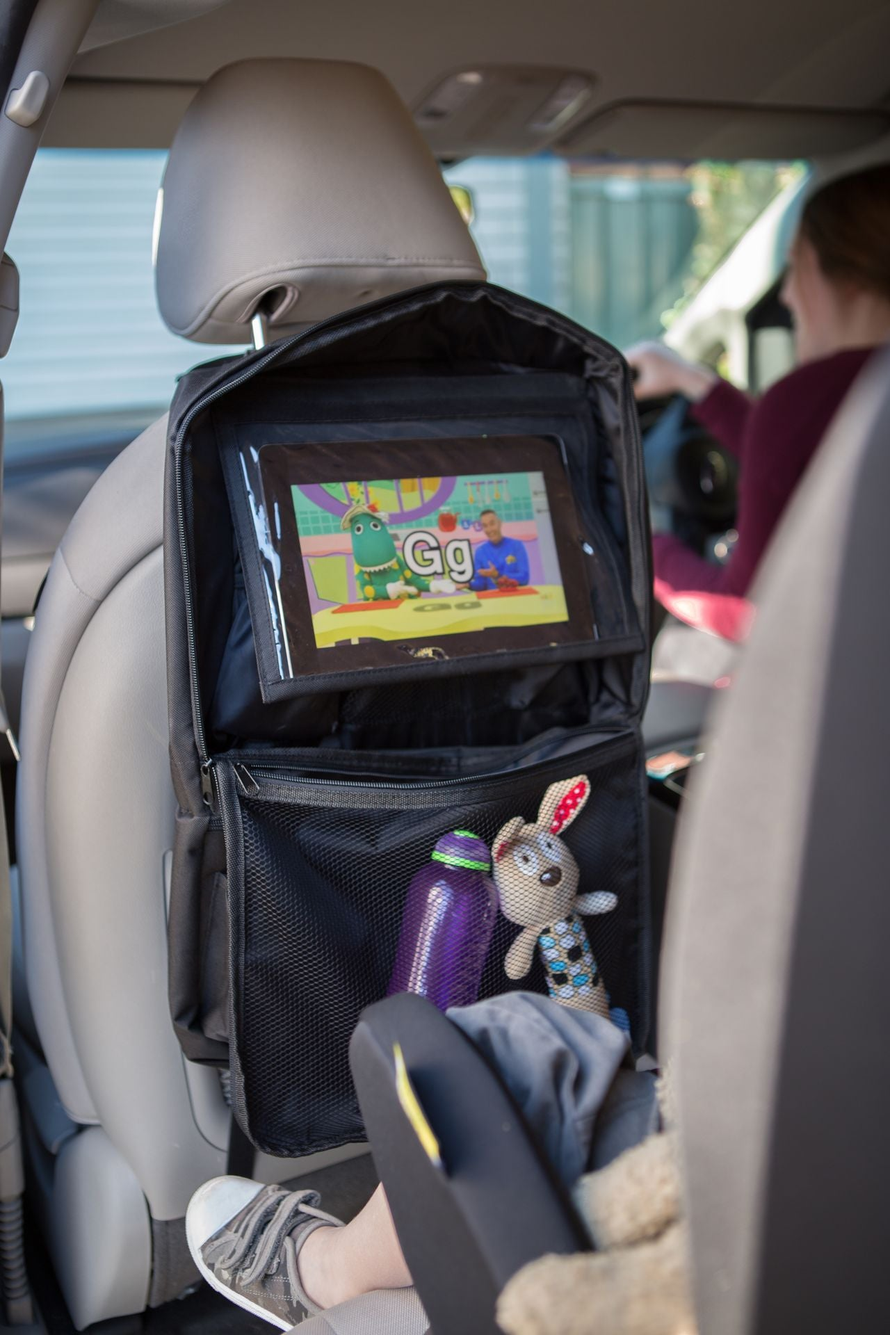 Zip up Back Seat Tablet/Ipad Organiser