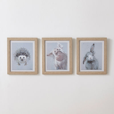 Small Animal Wall Art Set of 3