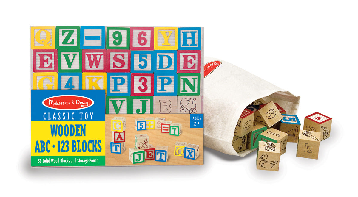 Melissa & Doug Wooden ABC Blocks