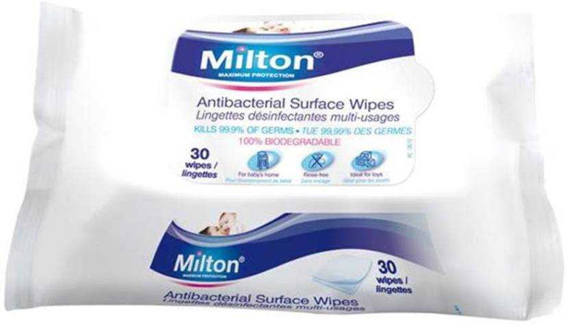 Milton Antibacterial Surface Wipes 30Pack