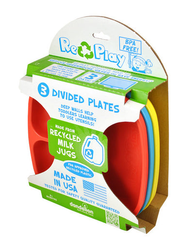 Replay 3 Pack of Divided Plates