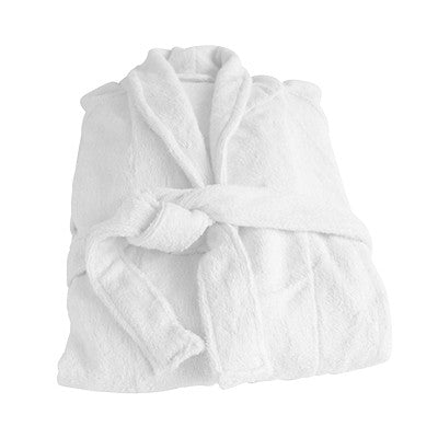 Bamboo Towelling Bath Robe White