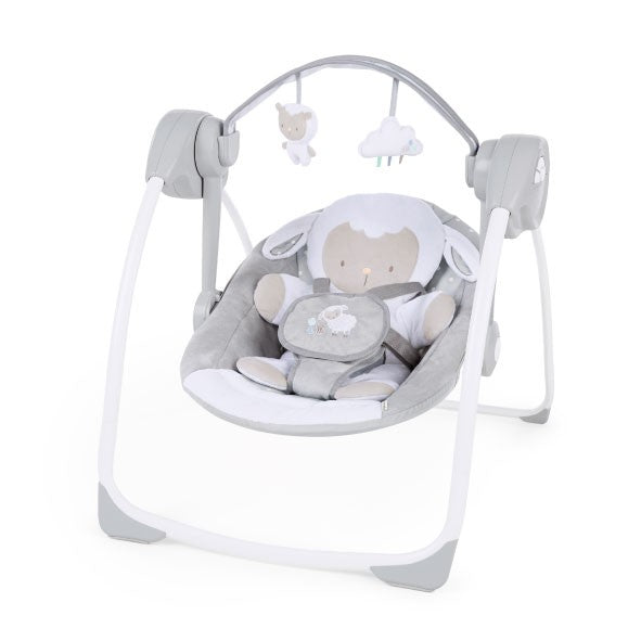 Ingenuity Comfort 2 Go Portable Swing - Cuddle Lamb