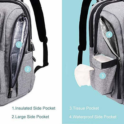 Iconic Nappy Back Pack with Whale Mouth