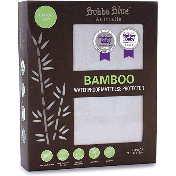 Bamboo Large Cot Waterproof Mattress Protector