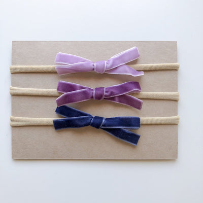 LT Velvet Bow Headband Set