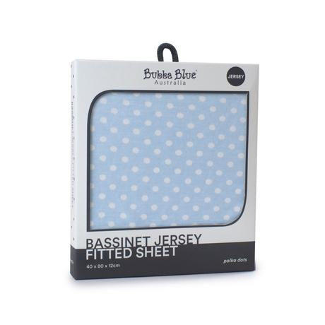 Polka Dot Jersey Bassinet Fitted Sheet