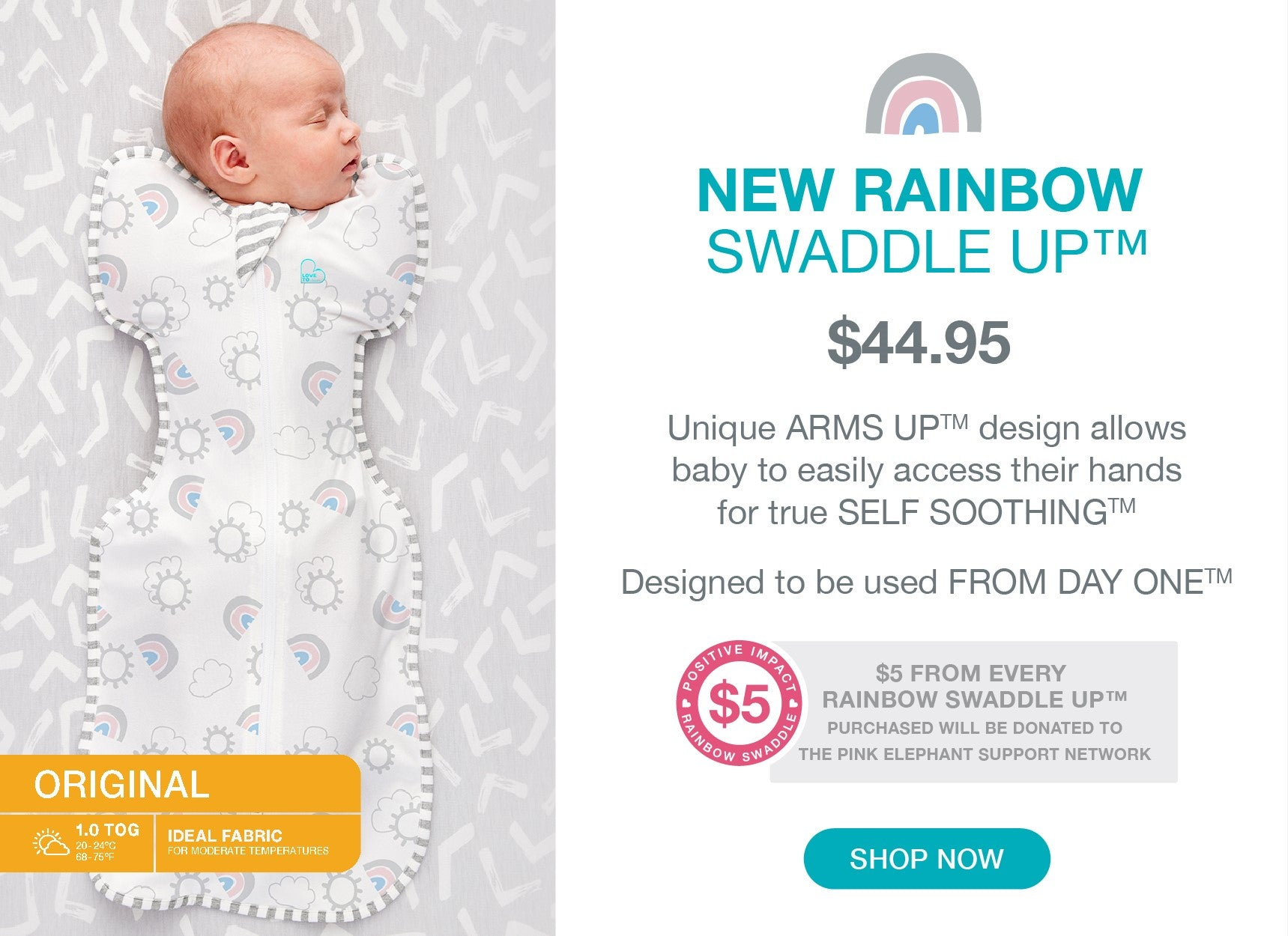 Swaddle up Original Rainbow LE