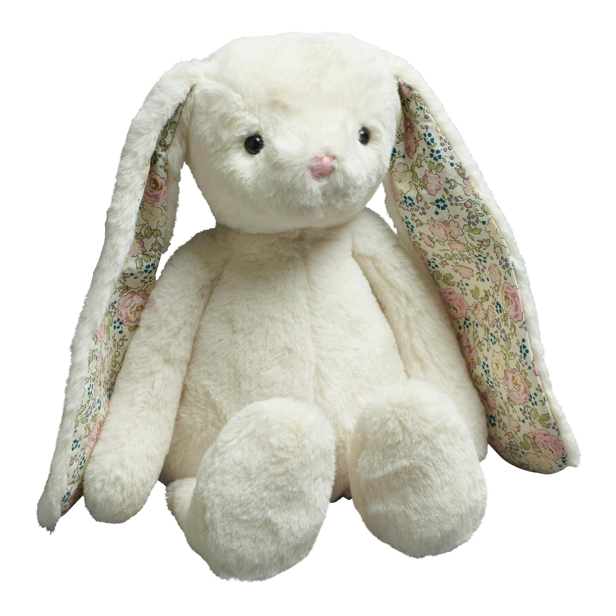 PLUSH BUNNY WITH FLORAL EARS