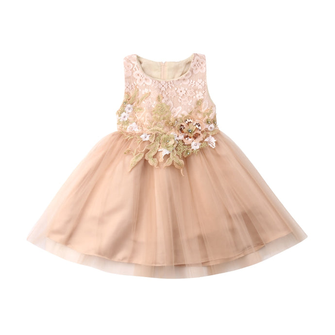 2e490b94421 ... Children Flower Dress. 3-10Y Dress For Girl Wedding Tulle Lace Girl  Dress Elegant Princess Party Pageant Formal