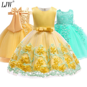 52fa0581651a 2019 Girls Formal Tutu Birthday Princess Party Dress for Girls Infant Lace Children  Bridesmaid Elegant Dress for Girl baby Girls Clothes