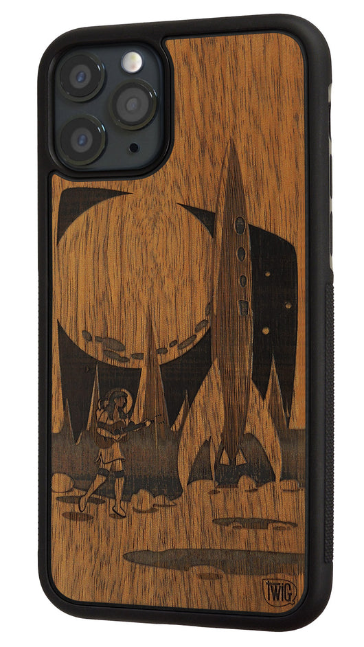 Moon Girl - Walnut Case for iPhone 11/Pro/Max, Walnut Case for iPhone 11/Pro/Max - Twig Case Co.
