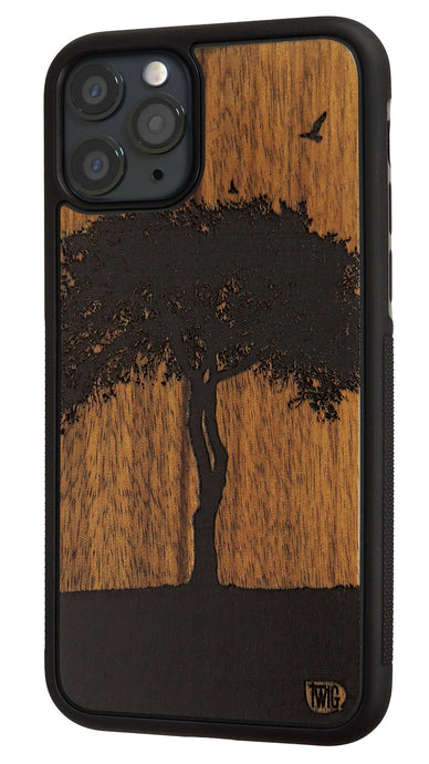 The One Tree - Walnut Case for iPhone 11/Pro/Max, Walnut Case for iPhone 11/Pro/Max - Twig Case Co.
