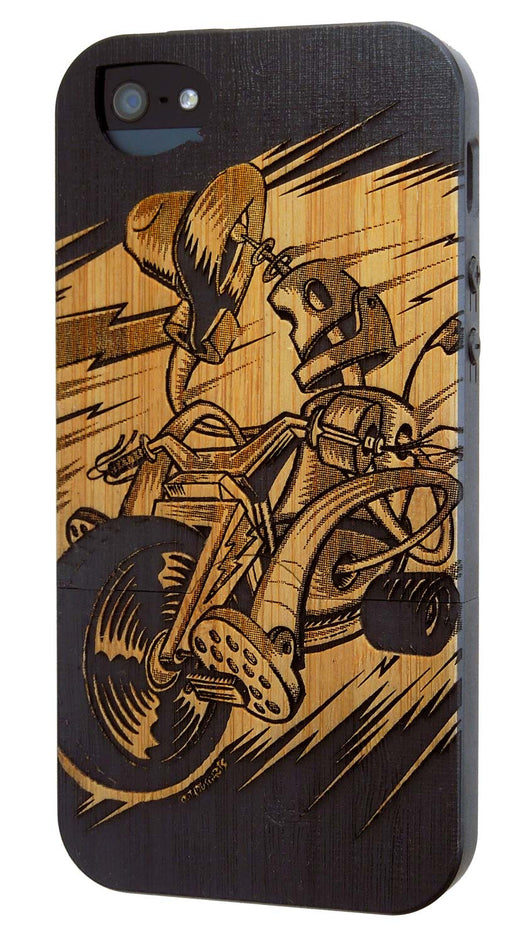 Robo Big Wheel - Bamboo - iPhone SE, & iPhone 5/5s, Case for iPhone SE & 5/5s - Twig Case Co.