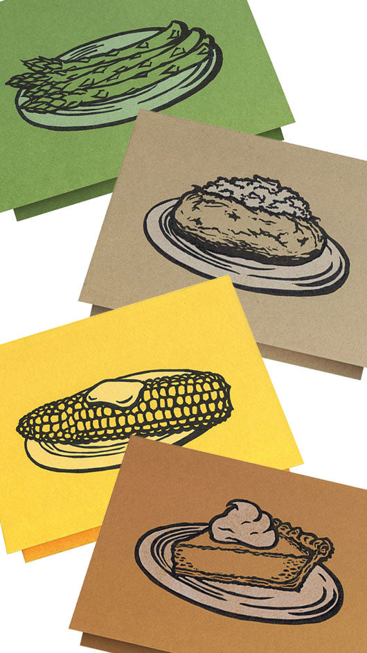 Seasonal Foods - Letterpress Greeting Cards, Cards - Twig Case Co.