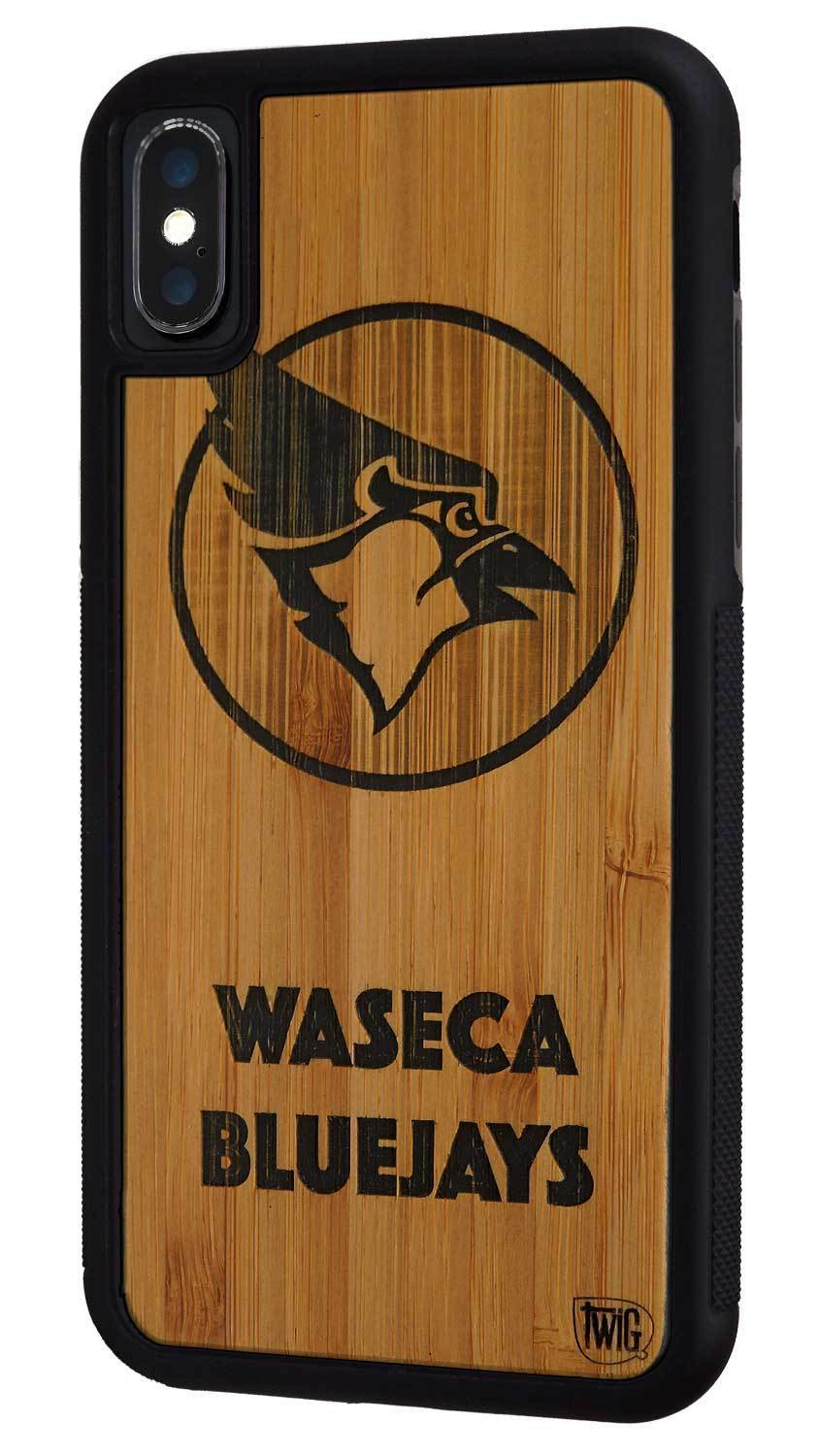 Waseca Bluejays - Walnut Case for iPhone X/XS/Max/XR, Walnut Case for iPhone X/XS/Max/XR - Twig Case Co.