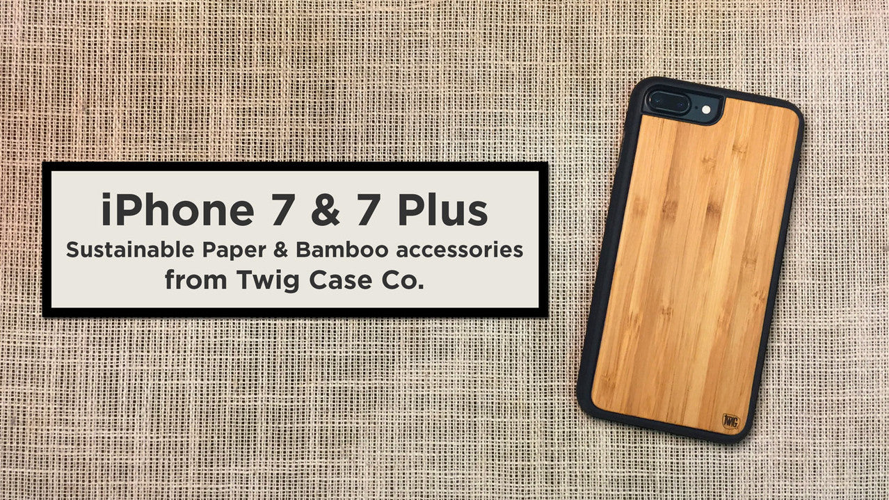 iPhone 7 & 7 Plus Paper & Bamboo cases - Stronger than Wood!