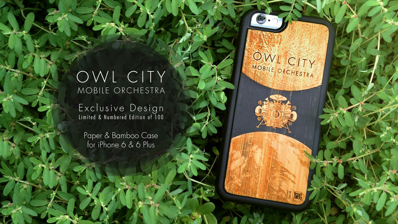 Owl City Mobile Orchestra Limited Edition - iPhone 6/6s & iPhone 6/6s Plus Paper & Bamboo Case
