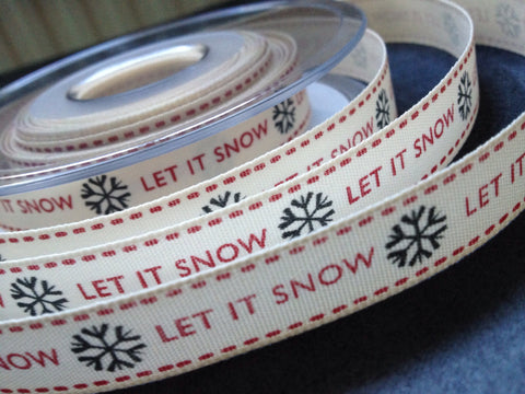 Berisfords Ribbon - Let It Snow (13681)