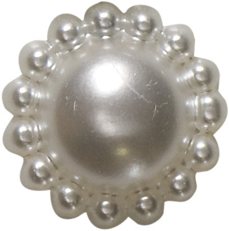 Pearlised, flat back shank button.
