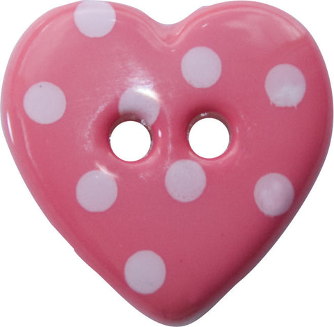 K788 Size 24 two hole heart shape button
