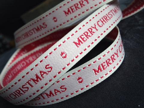 Berisfords Ribbon - Merry Christmas (43591)