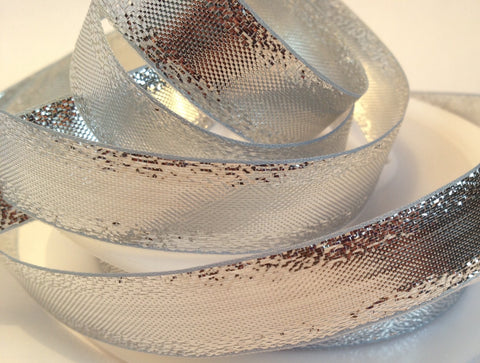 Sparkly Silver Metallic Ribbon