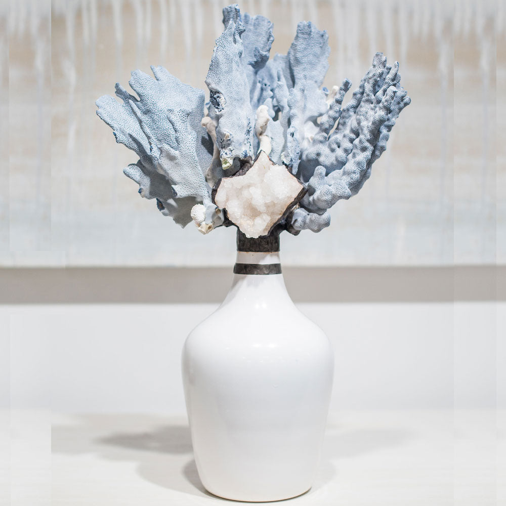 Demijohn Blue Coral Bottle - Large 21