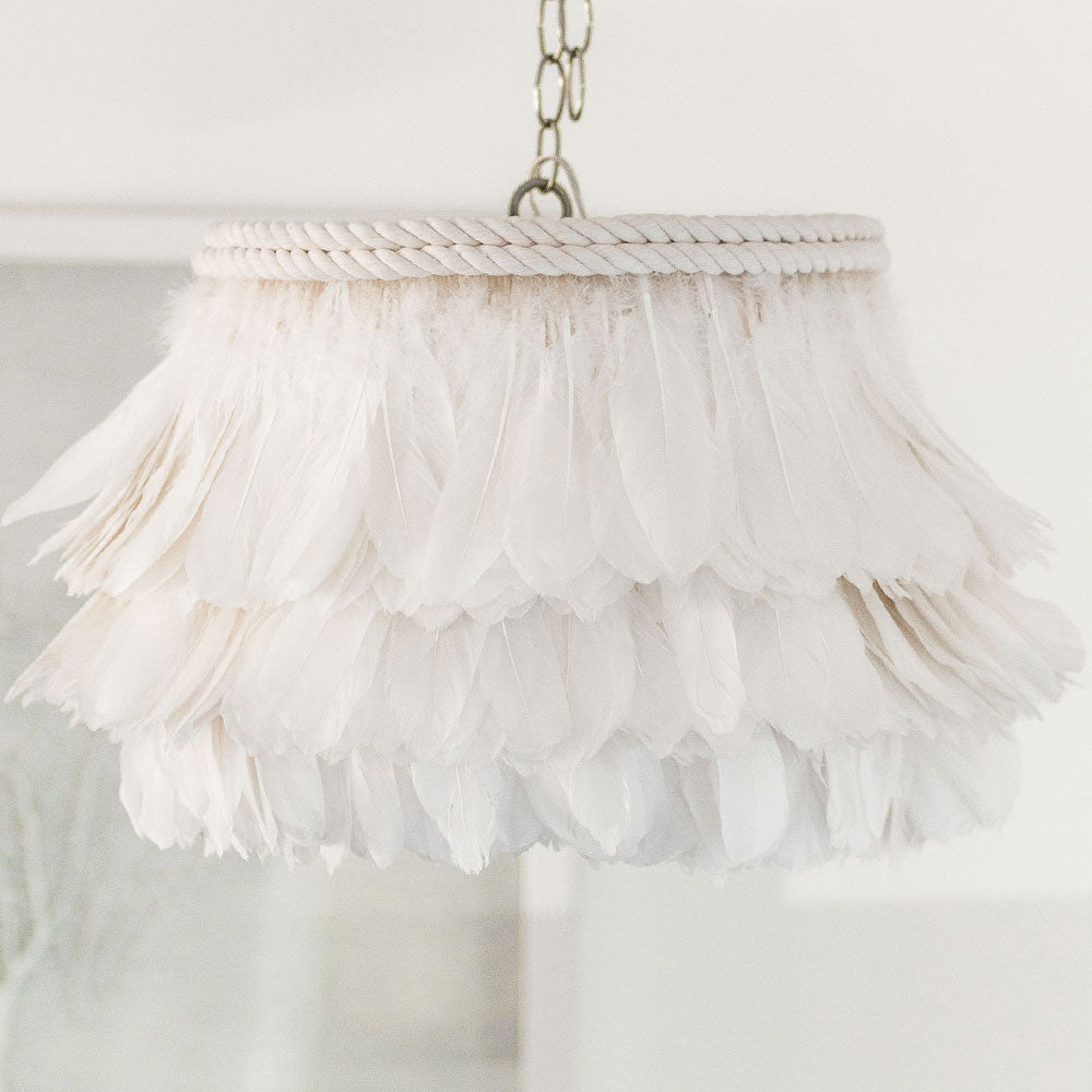 White Feather Lamp
