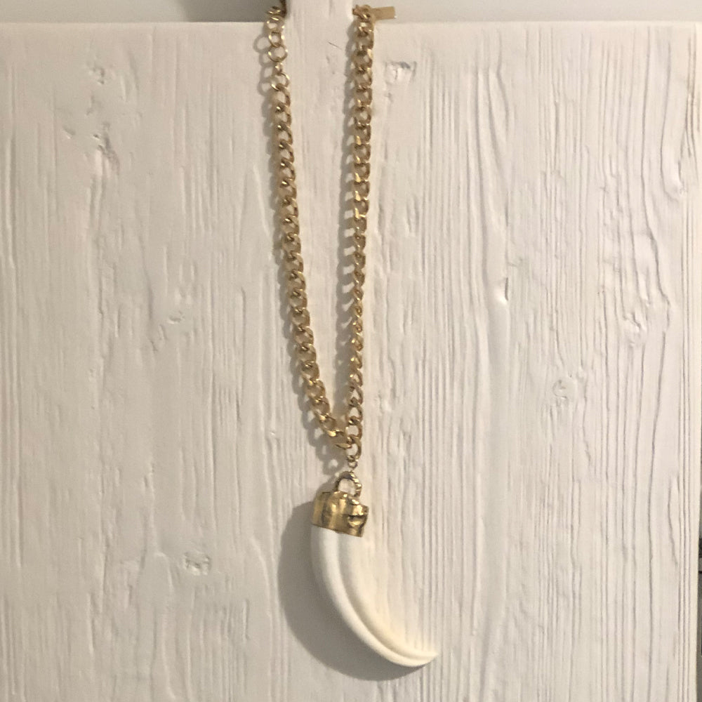 Paige 18 Karat Gold African Tusk Necklace
