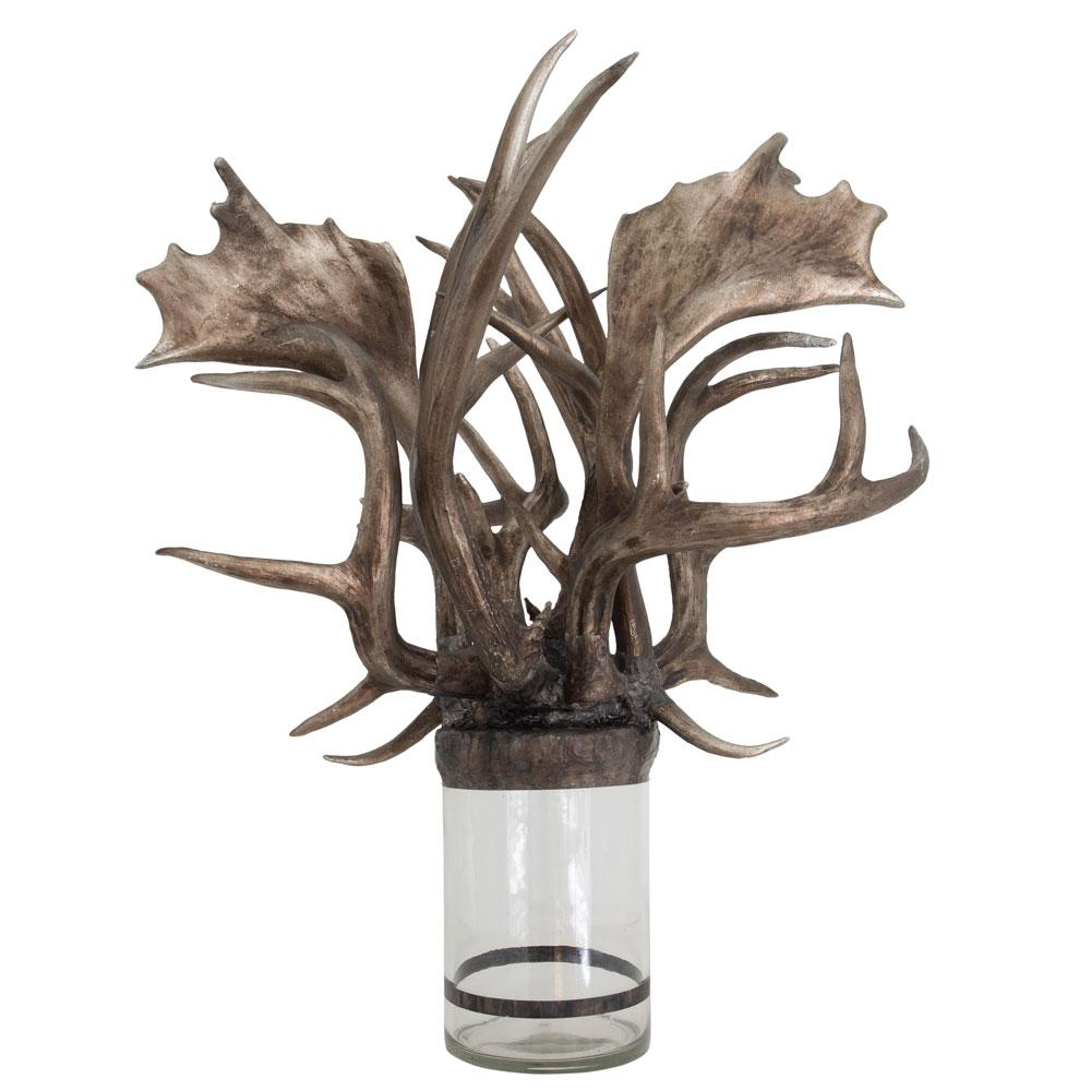Mixed Silver Antler Bottle