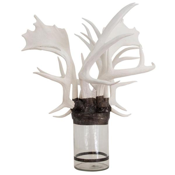 Mixed Antler Bottle - White