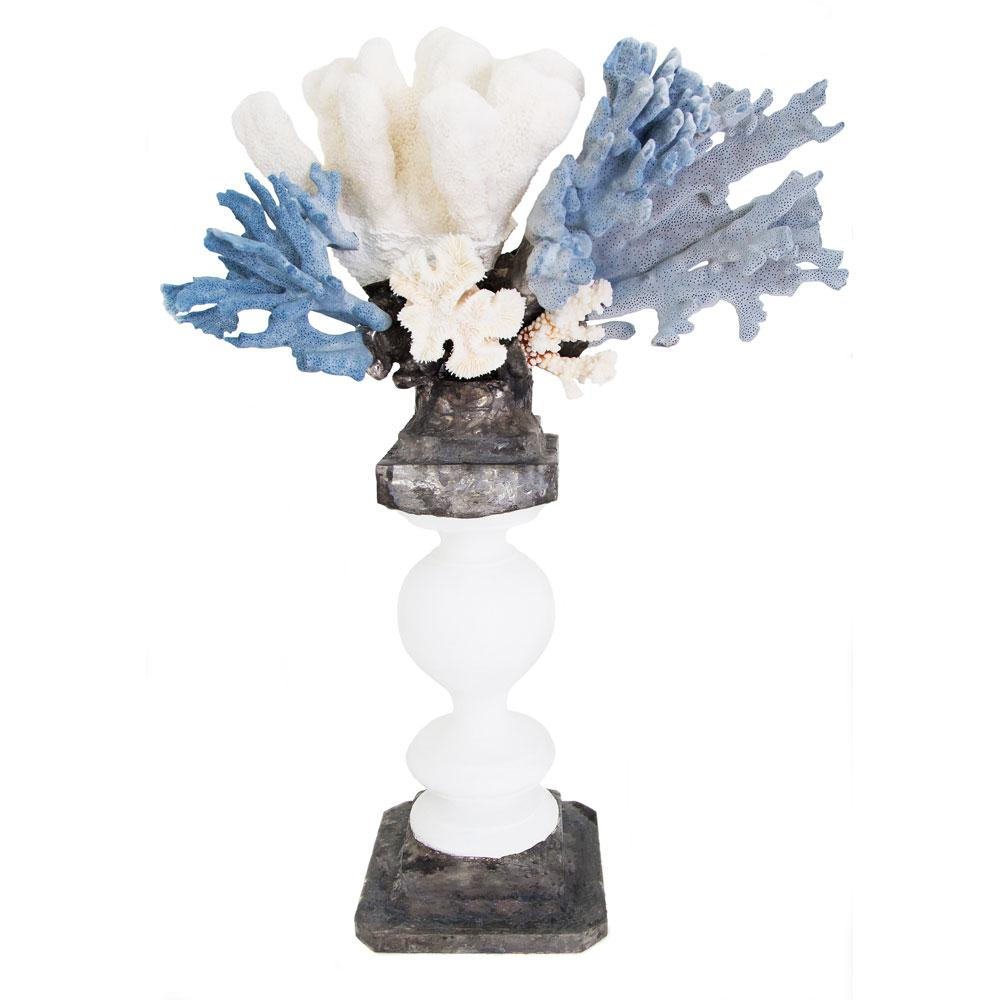 Blue White Coral Vintage Balustrade