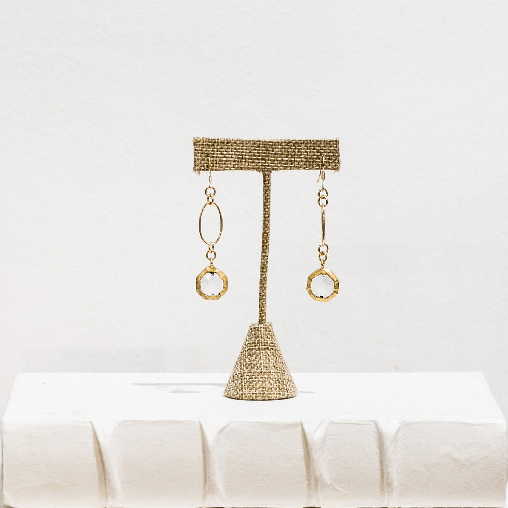 Presley 18 Karat Gold Crystal Earrings