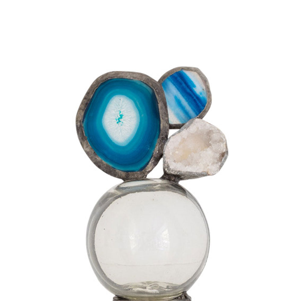 Blue Agate Double Float (Small) - (FLS-BlAgDbl ~ S118T148)