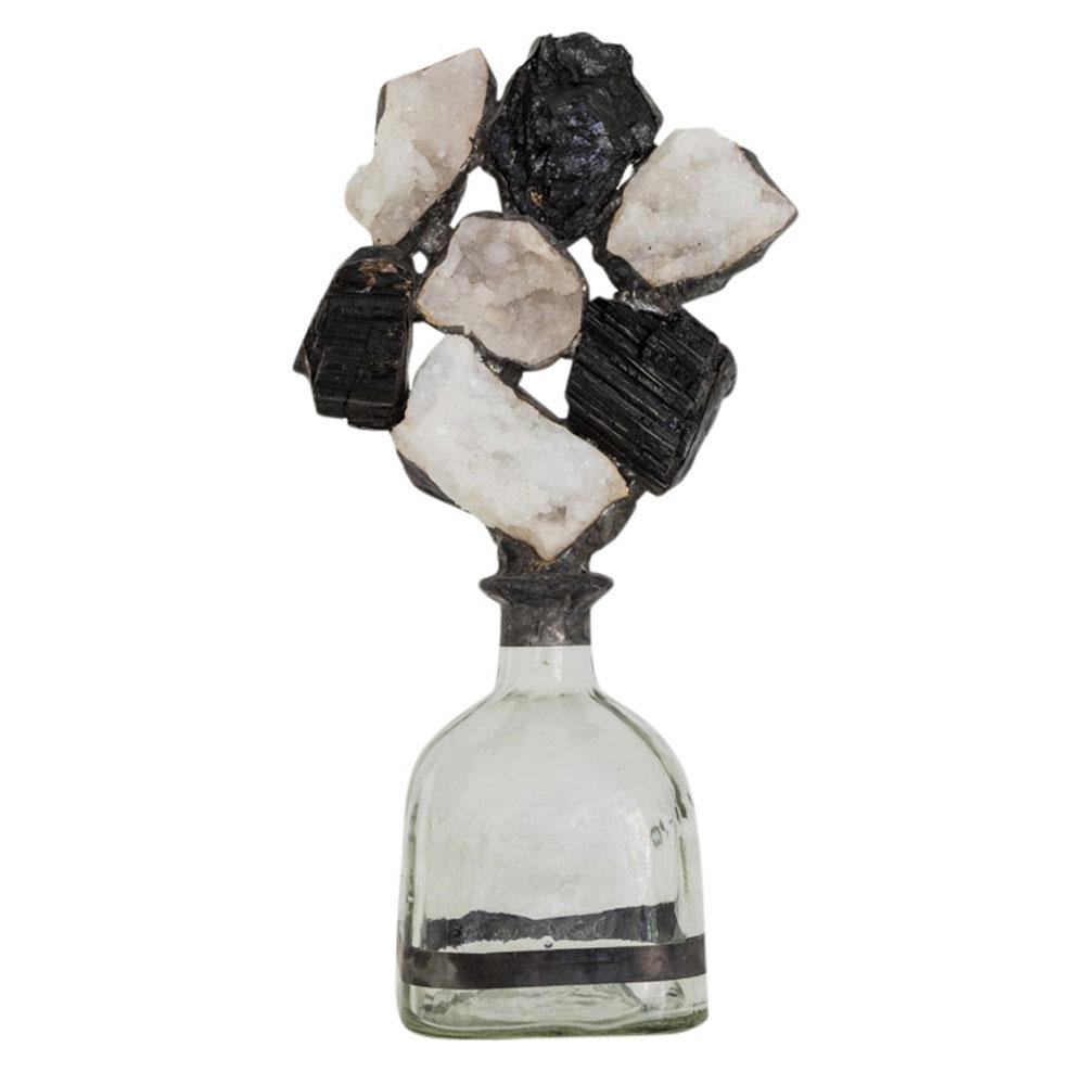Tourmaline Geode Cluster Bottle