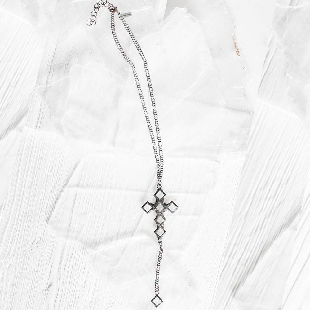 Brio Cross Crystal Necklace