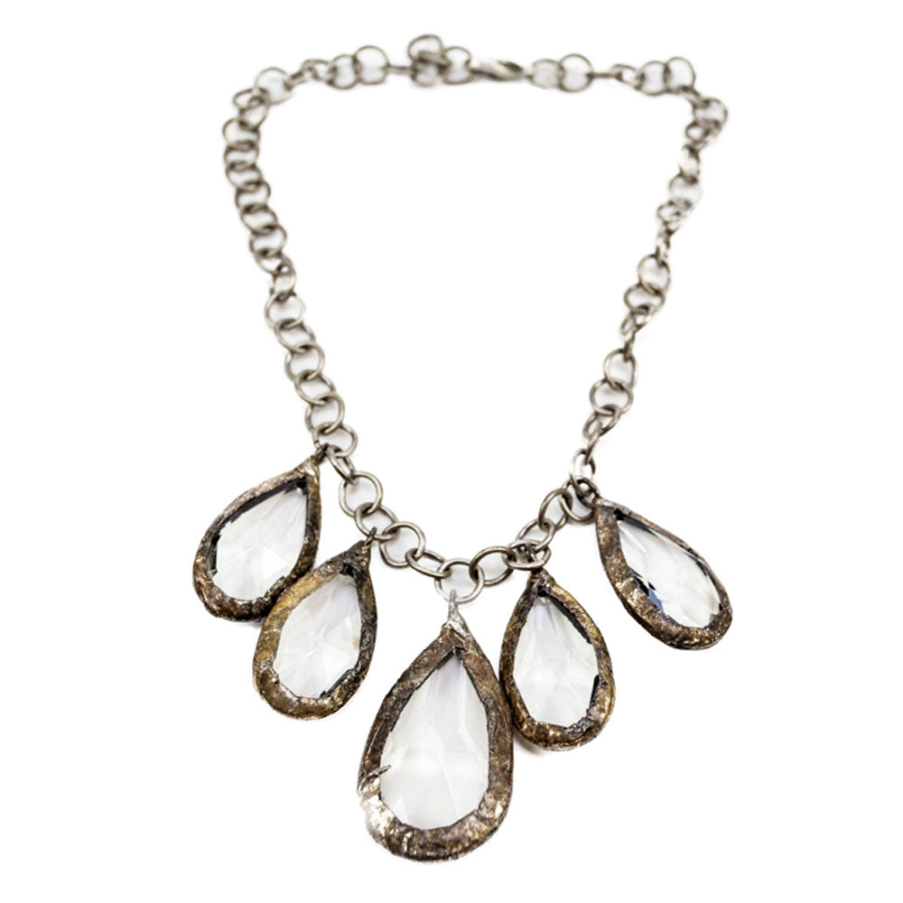 Leo 5 Tear Drop Necklace