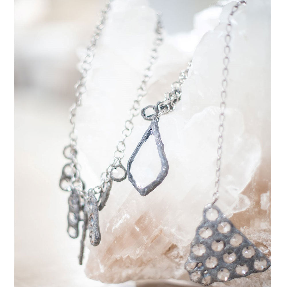 Leo French Tear Drop Necklace