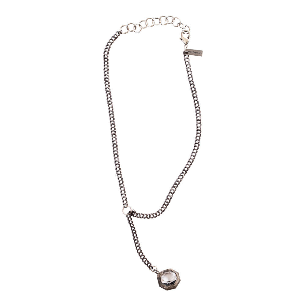 Mira Drop Crystal Necklace (Round or Diamond Shape)