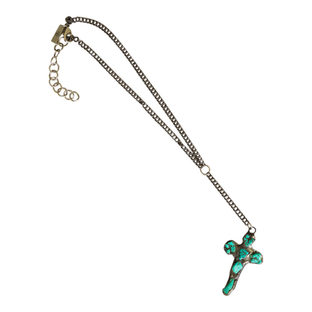 Mira Cross Necklace (Crystals or Turquoise