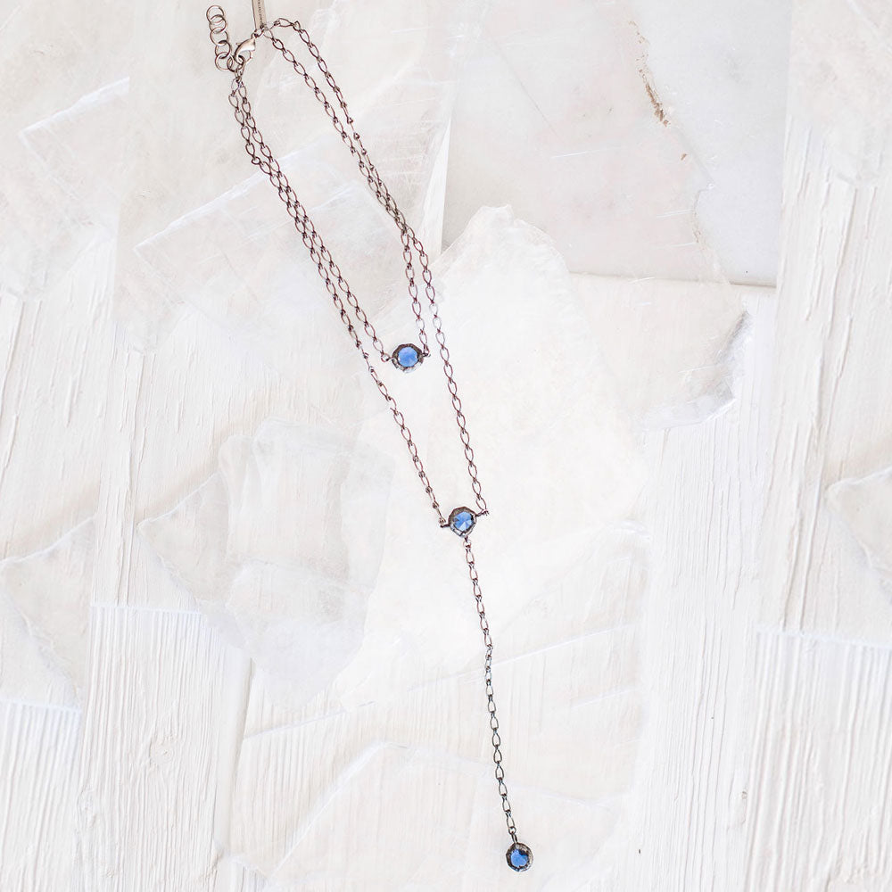 Wren Crystal Necklace (Clear or Cobalt)