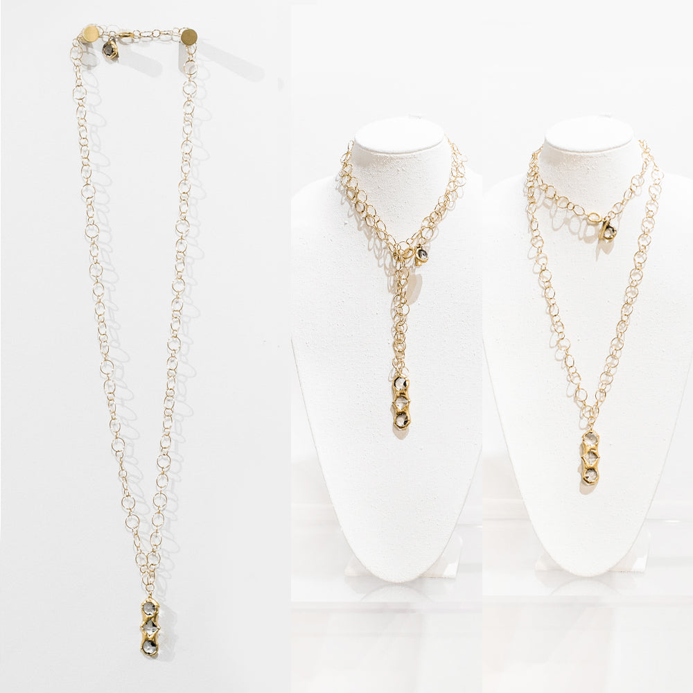 Delaney 18 Karat Gold Crystal Necklace