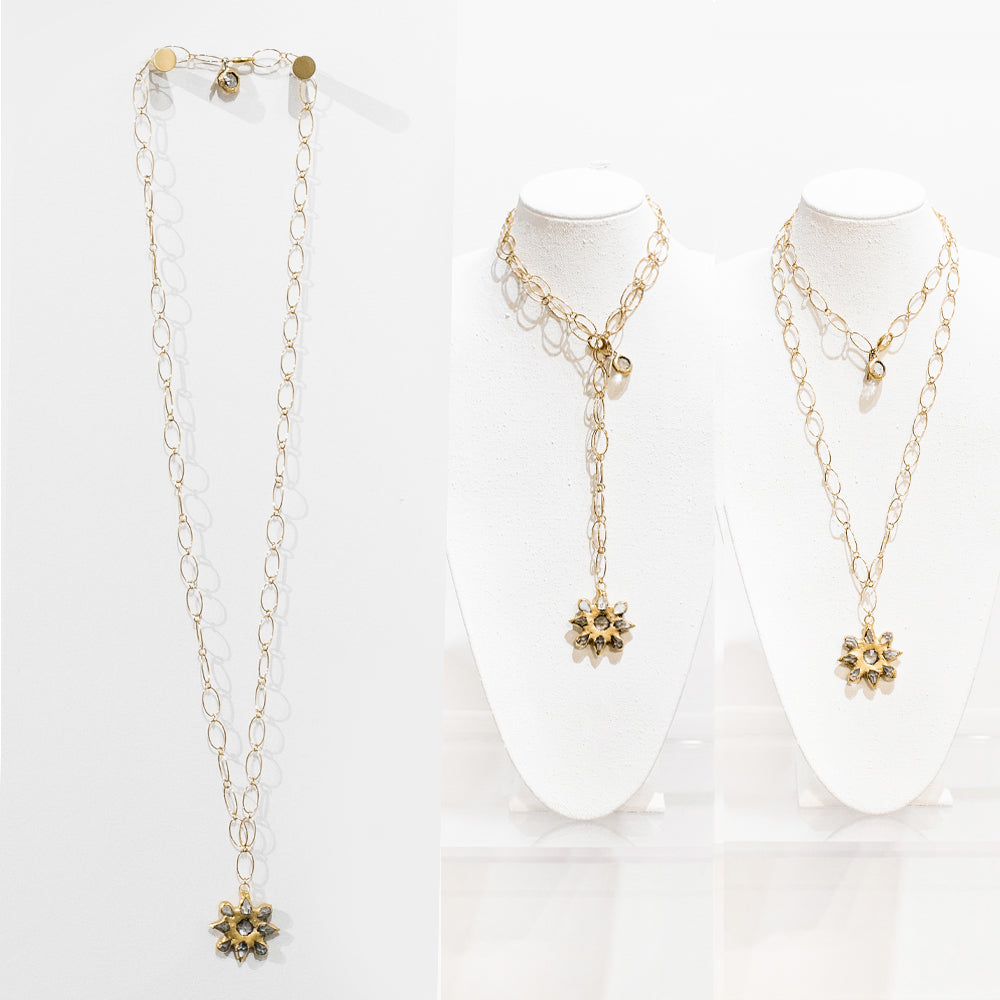 Everly 18 Karat Gold Crystal Necklace