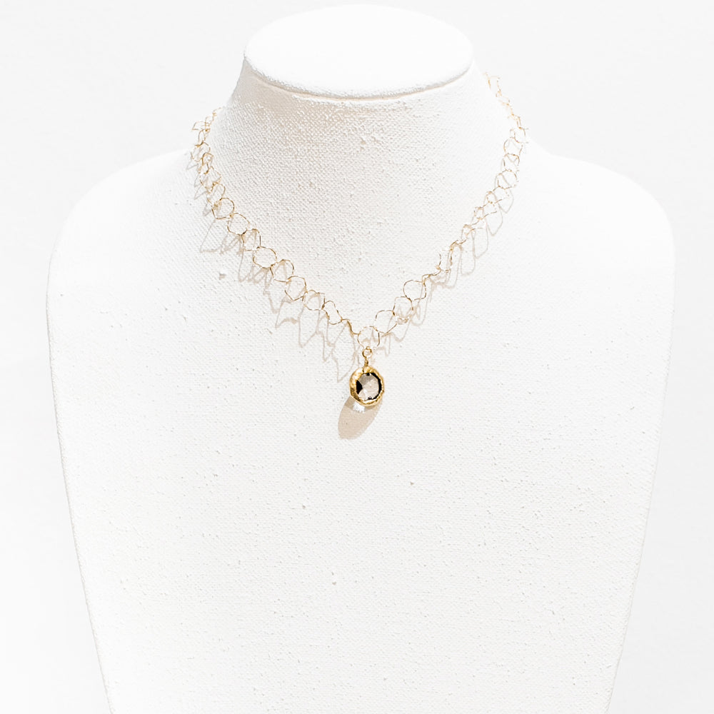 Jayla 18 Karat Gold Crystal Necklace