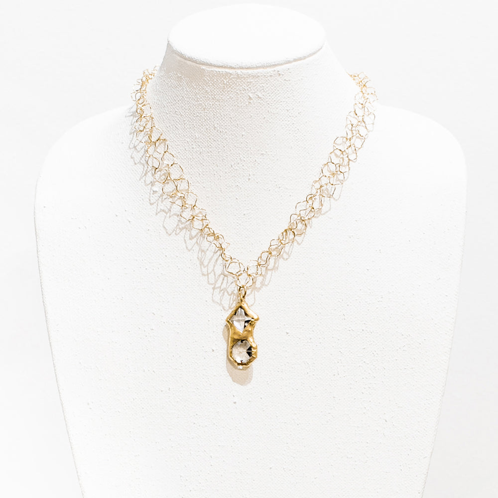 Jordyn 18 Karat Gold Crystal Necklace
